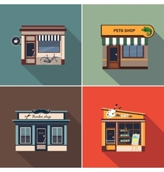 Stores and Shop Facades Colourful vector image vector image