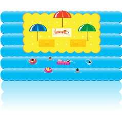 summer holidays beach vector image