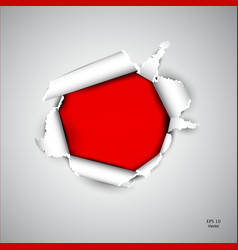 Torn red paper vector image
