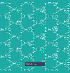 Turquoise color floral pattern background vector