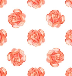 Watercolor roses in vintage style vector image vector image