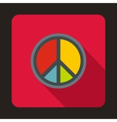Peace symbol icon flat style vector