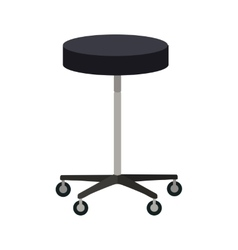 Stool on wheels in flat design vector