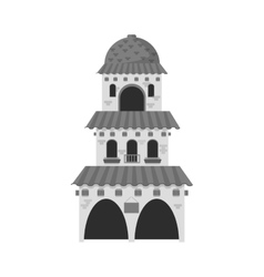 Isolated mexican building design vector