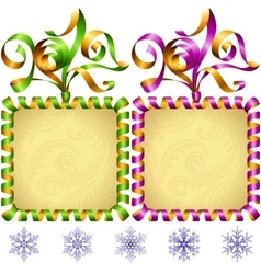 New year 2017 square frame set vector