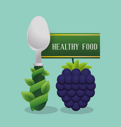 Blueberry healthy food diet vector
