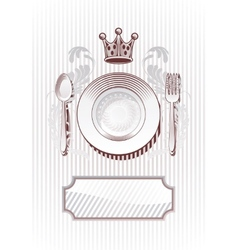 Royal diner vector