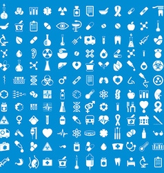 Medical icons set set of 144 medical and medicine vector
