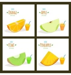 Fruit juices vector