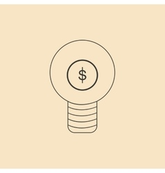 Flat in black and white light money vector