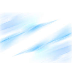 abstract blue waves smooth gradient background vector image vector image