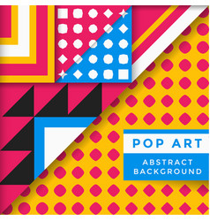 Abstract pop art background vector