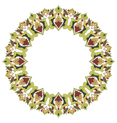 Antique ottoman turkish pattern design twenty six vector