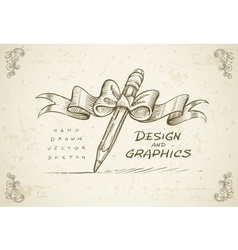 Art design graphics sketch vector image