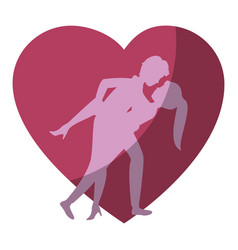 beautiful and romantic couple vector image vector image