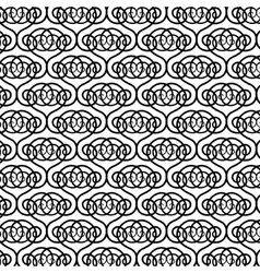 Black and white pattern with round forms vector image vector image