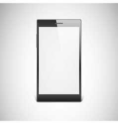 Black smartphone isolated on white background vector image
