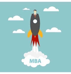 Business MBA Education Concept Trends and vector image vector image