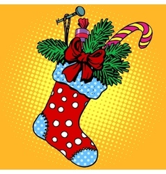 Christmas sock for gifts vector