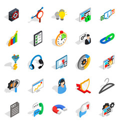 Cloud icons set isometric style vector