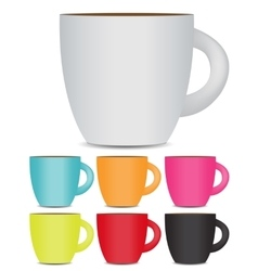 Coffee Cup Set Isolated on White Background Photo vector image
