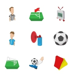 Competition football icons set cartoon style vector