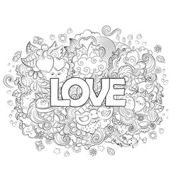 Doodle hand drawn abstract vector
