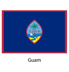 Flag of the country guam vector