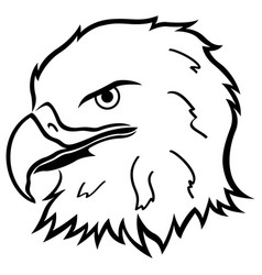 Head of eagle vector