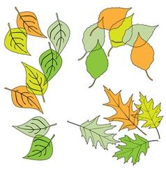 leaf design elements vector image vector image