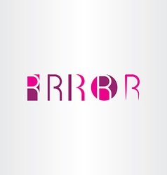 letter r magenta icons set collection symbol vector image