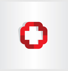 medical cross symbol icon logo element vector image vector image