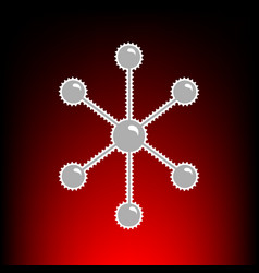 Molecule sign postage stamp or old vector