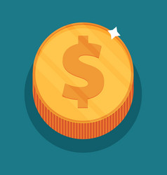 Money symbol flat vector