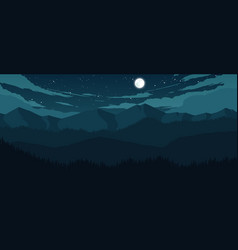 mountains and hills landscape vector image vector image