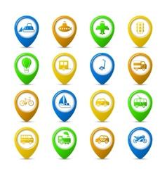 Navigation pins vector