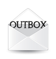 Outbox vector image