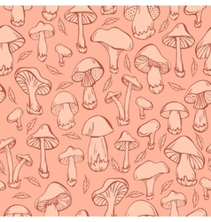Pattern with mushrooms vector image vector image