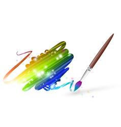Rainbow colours drawing vector