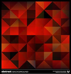 Red triangles background vector image vector image