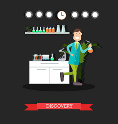 Scientific discovery concept flat vector