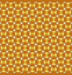 Seamless pattern braided gold ribbon vector