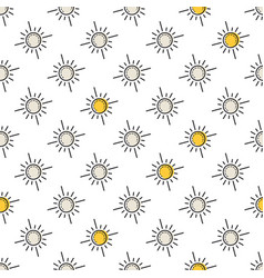 seamless pattern with yellow sun vector image vector image