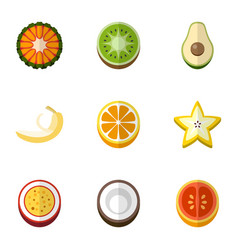 Set of 9 editable dessert flat icons includes vector
