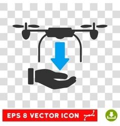 Unload Drone Eps Icon vector image