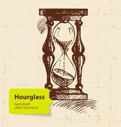Vintage clock hourglass vector