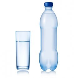 water bottle vector image vector image
