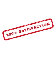 100 percent satisfaction text rubber stamp vector