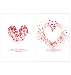 Heart white background or flye vector