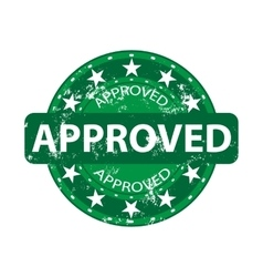 Approved green stamp vector image